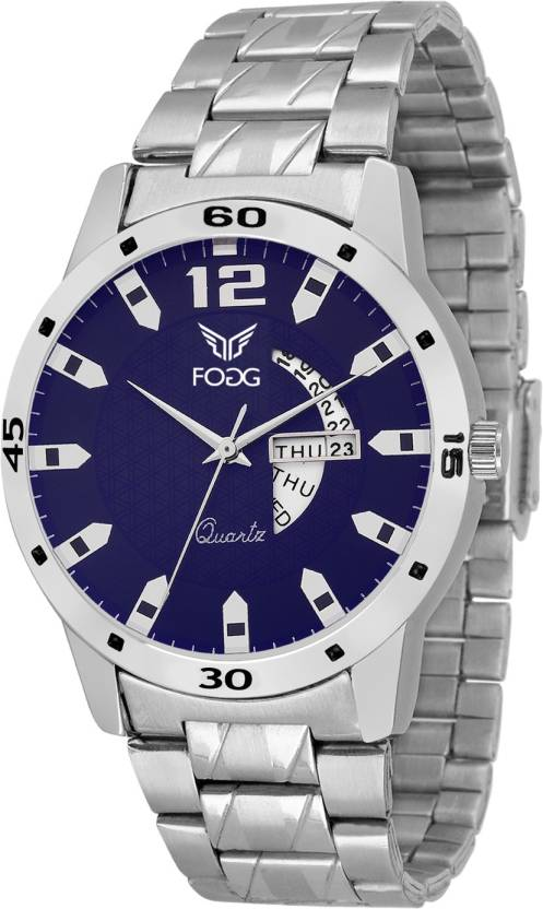 Fogg 2034-BL-CK Day and Date Watch - For Men