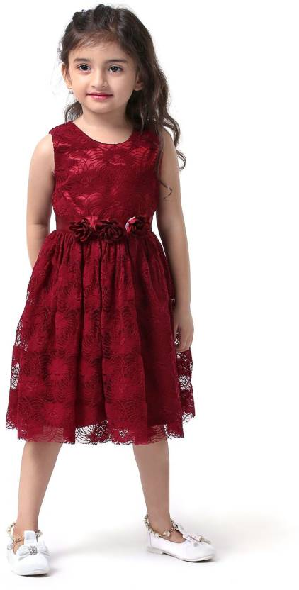 78a939bd075a Xomantic Fashion Girls Midi Knee Length Casual Dress Price in India ...