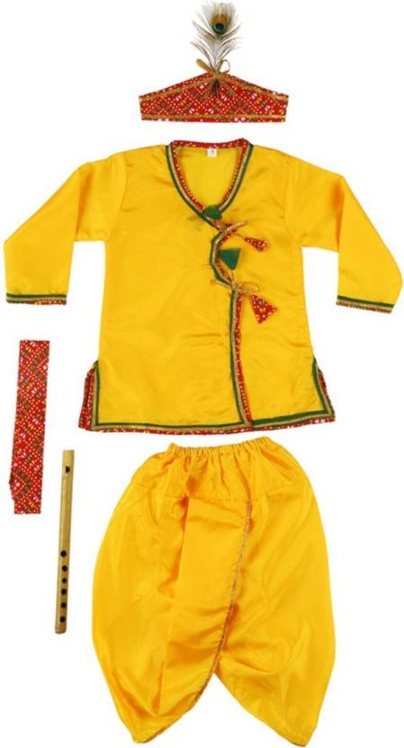 a826c2789 Little Palz Boy's & Girl's Festive & Party Dhoti & Kurta Set (Gold Pack of  1)