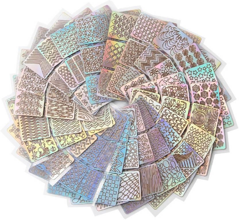 Raj Mukut 24pcsset Vinyls Nail Art Sticker Decorations Stencil Nail