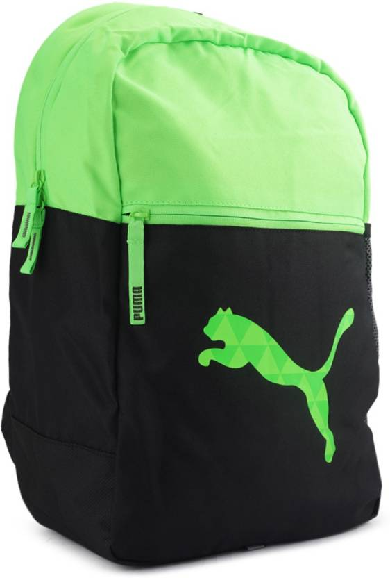 Puma PUMA Block Backpack 24 L Laptop Backpack Green-Black - Price in ... 5118e3565a151