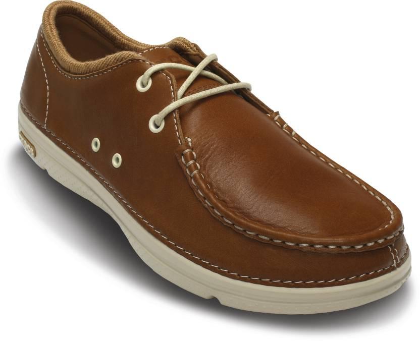bcfd74a25232 Crocs Thompson II.5 Lace Boat Shoe For Men - Buy Brown Color Crocs ...