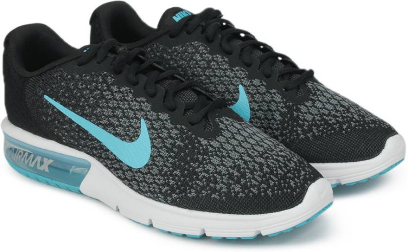 b9fd7e86209 Nike AIR MAX SEQUENT 2 Running Shoes For Men - Buy BLACK CHLORINE ...