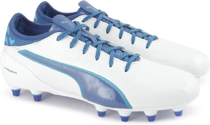 fa3ae005e750 Puma evoTOUCH 2 FG Football Shoes For Men - Buy Puma White-TRUE BLUE ...