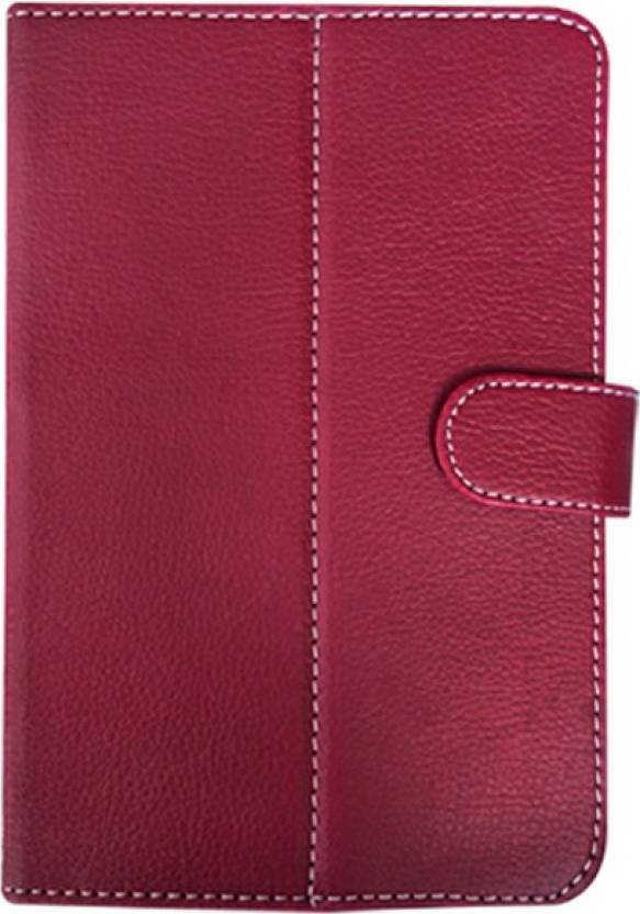 Fastway Book Cover for LAVA XTRON Z704 Maroon, Cases with Holder