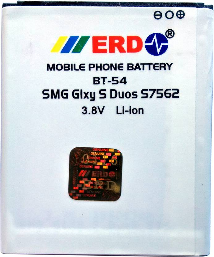 ERD Mobile Battery For Samsung Galaxy S Duos GT-S7562