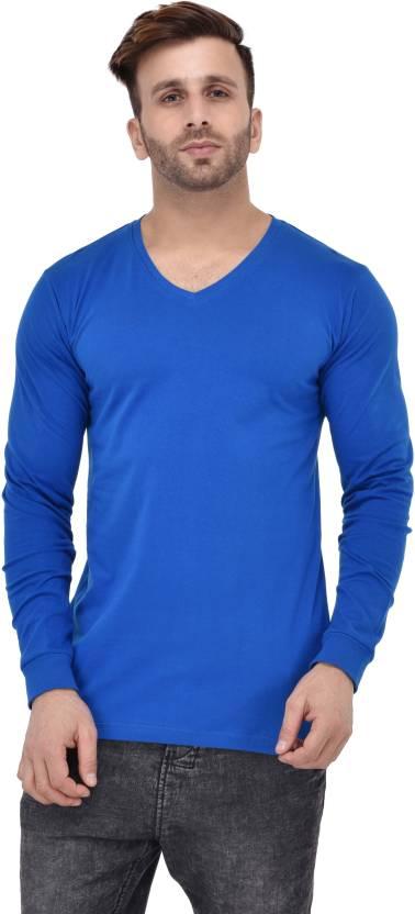 675117f55 Acomharc Solid Men's V-neck Light Blue T-Shirt - Buy Royal Blue ...