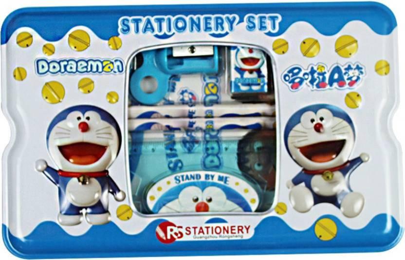 NeoTask Cartoon Doraemon Smart Art Cool Art Metal Pencil Box (Set of 1, Multicolor)