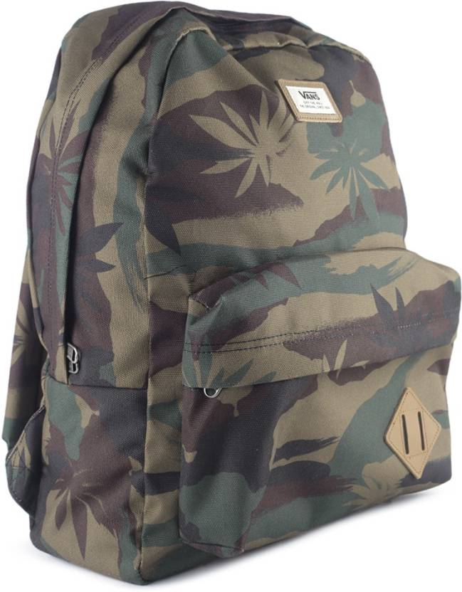 1c04b3d0b57 Vans Old Skool II 22 L Backpack PEACE LEAF CAMO - Price in India ...