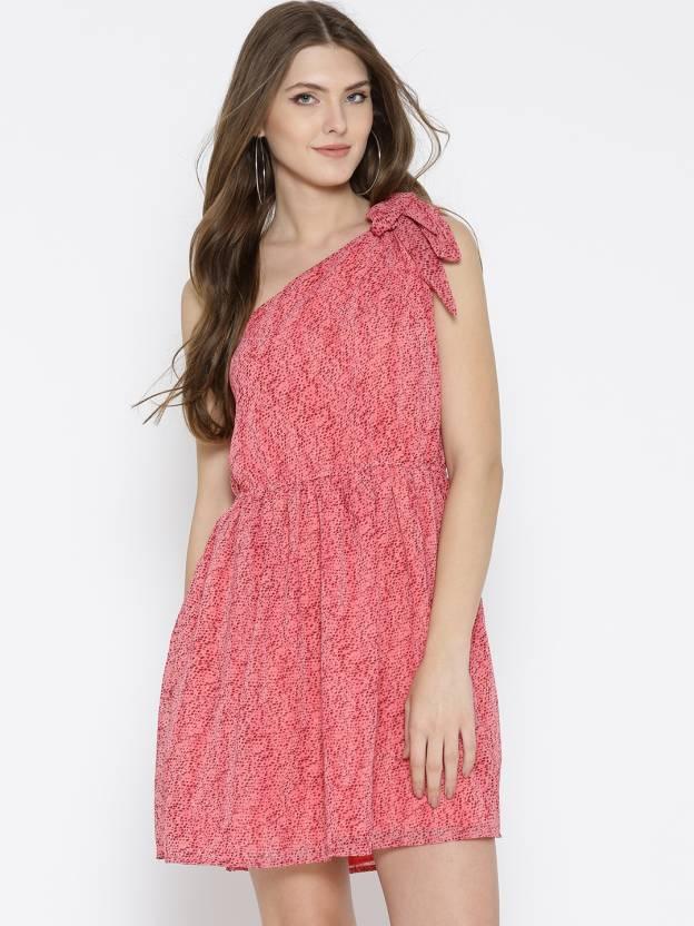 6c51baf452261 Sera Women Gathered Pink Dress - Buy Sera Women Gathered Pink Dress Online  at Best Prices in India