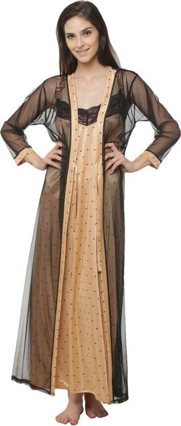 Clovia Women Nighty with Robe - Buy Clovia Women Nighty with Robe ... 918420acd