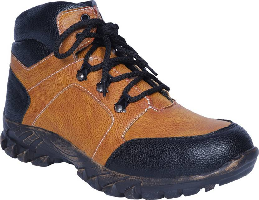 81370939215 Manslam Safety Shoes Steel Toe Boots For Men