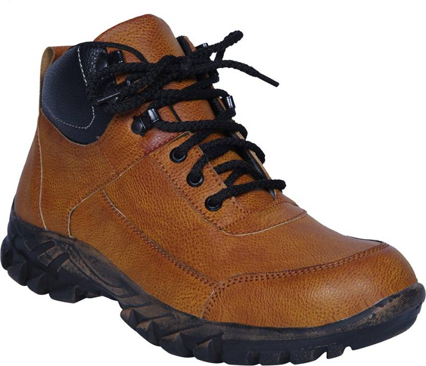 Manslam Safety Shoes Steel Toe Boots For Men