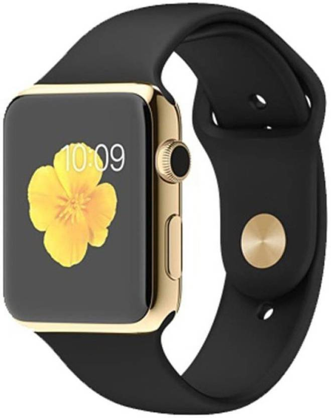 ce9dcce84b17 PremiumAV EON A1 Gold Smart Watch Black Smartwatch (Black Strap Free Size)