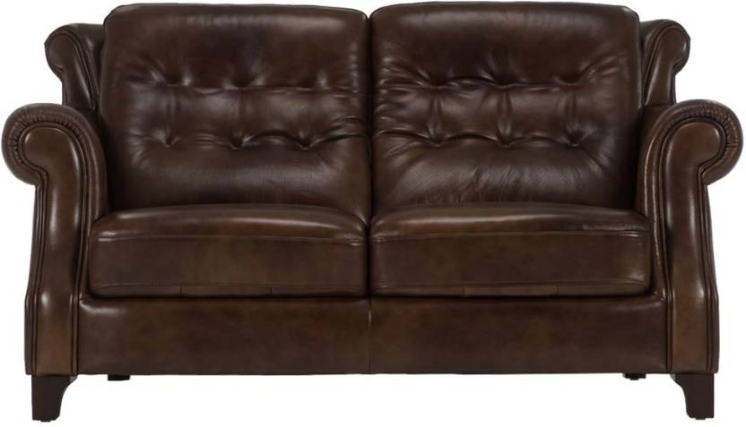 Durian Roger 2 Leather Seater Sofa