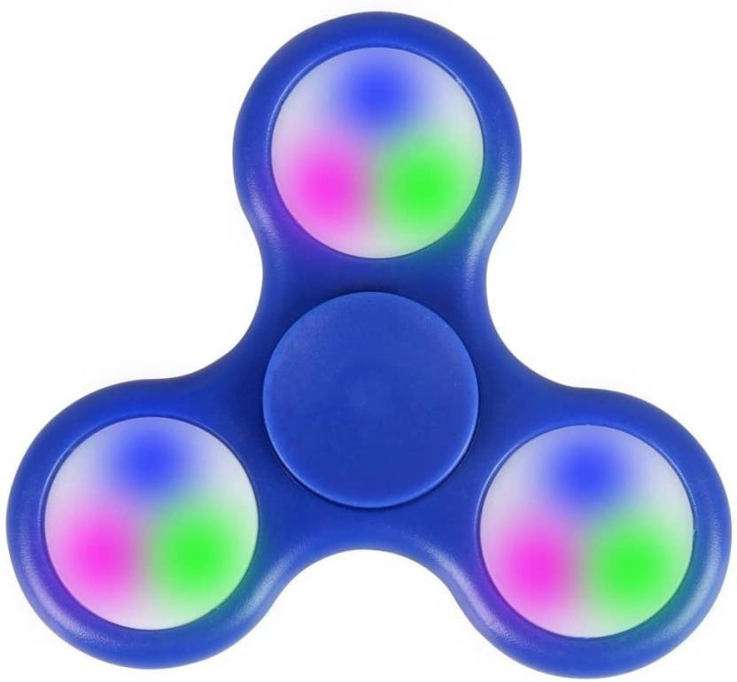 VibeX TM Rainbow Fidget Spinner Glow In The Dark Tri