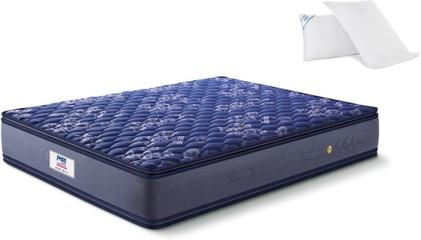 Peps Springkoil Pillow Top Blue 6 Inch Queen Bonnell Spring Mattress
