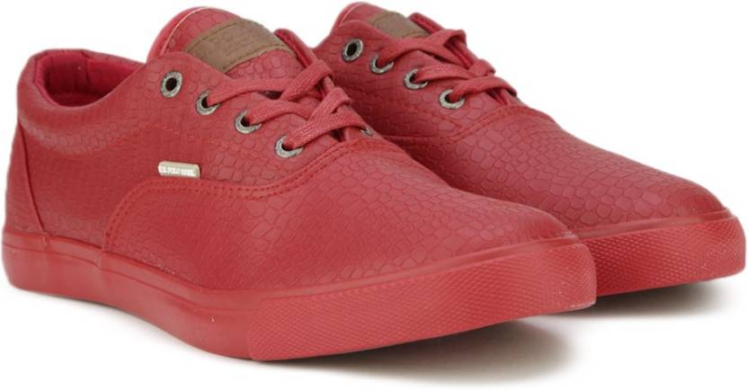 c1dfce91b U.S. Polo Assn Frank Corporate Casuals For Men - Buy Red Color U.S. ...