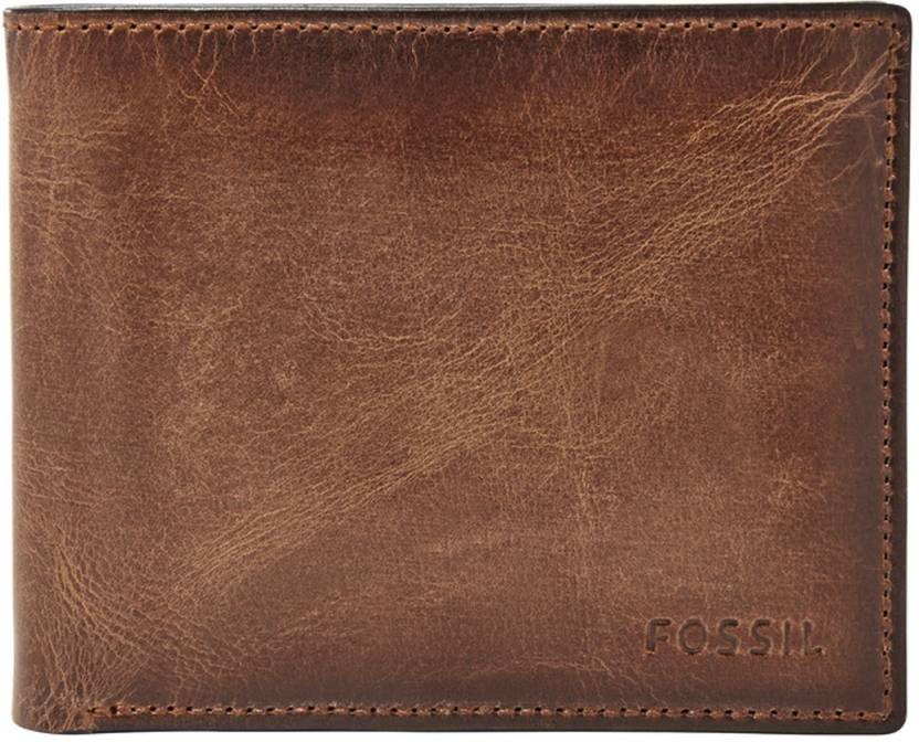 Fossil Men Formal Brown Genuine Leather Wallet Brown - Price in ...