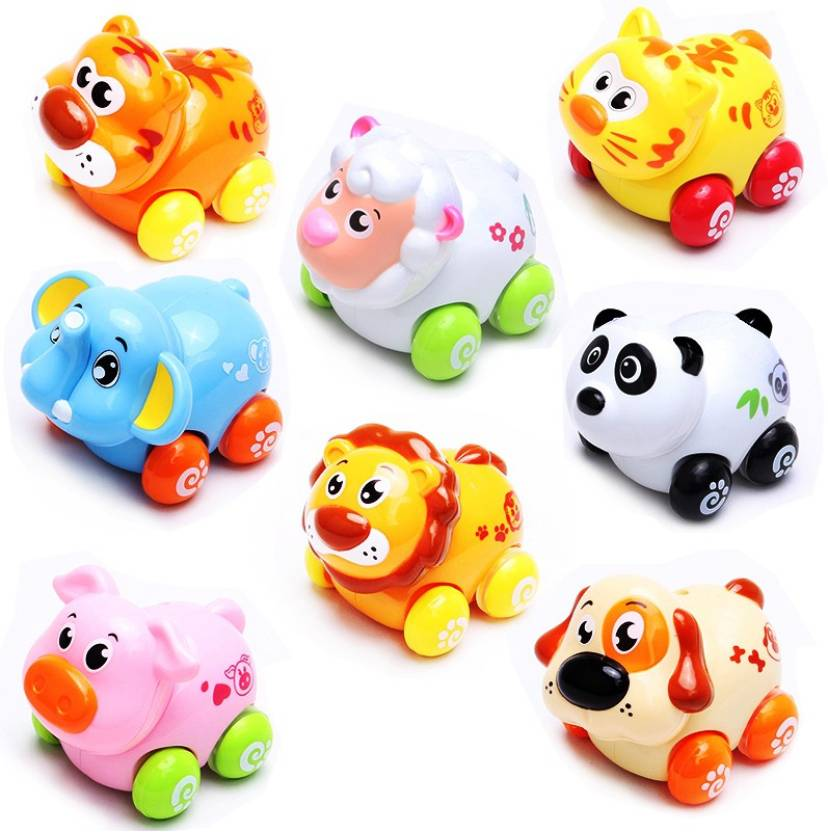 GoAppuGo My First Animals Set Of 8 Pieces Baby Birthday Gift For 1 2 Year Old Boy Girl Child Educational Toys Multicolor