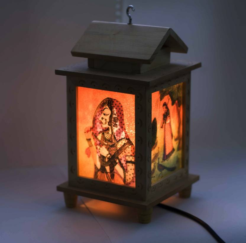Craftkriti Hut Shaped Table Lamp 17 cm, Multicolor