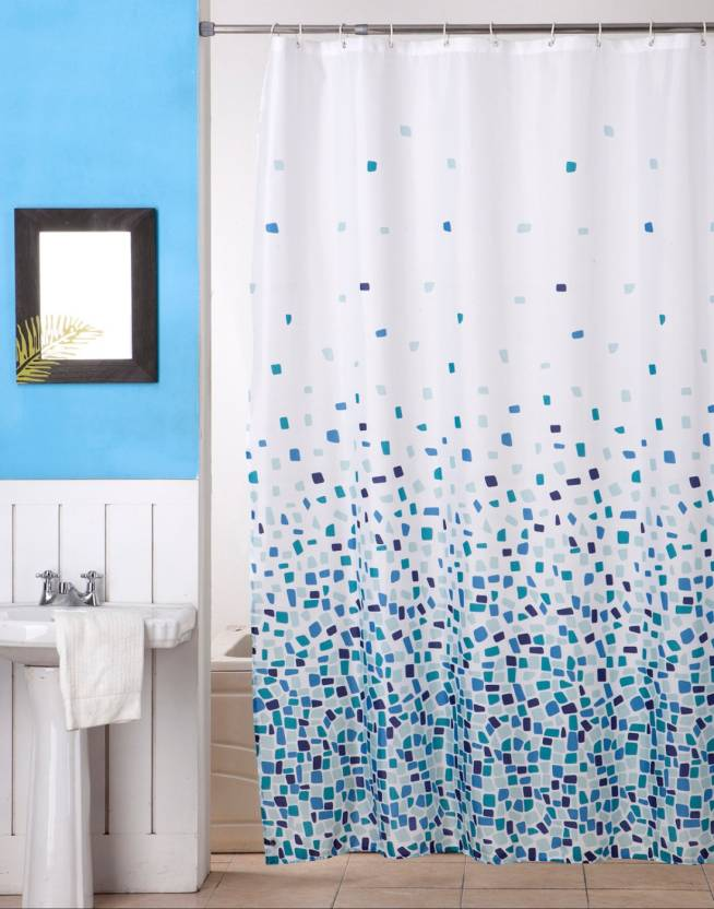 BIANCA 180 Cm 6 Ft Polyester Shower Curtain Single
