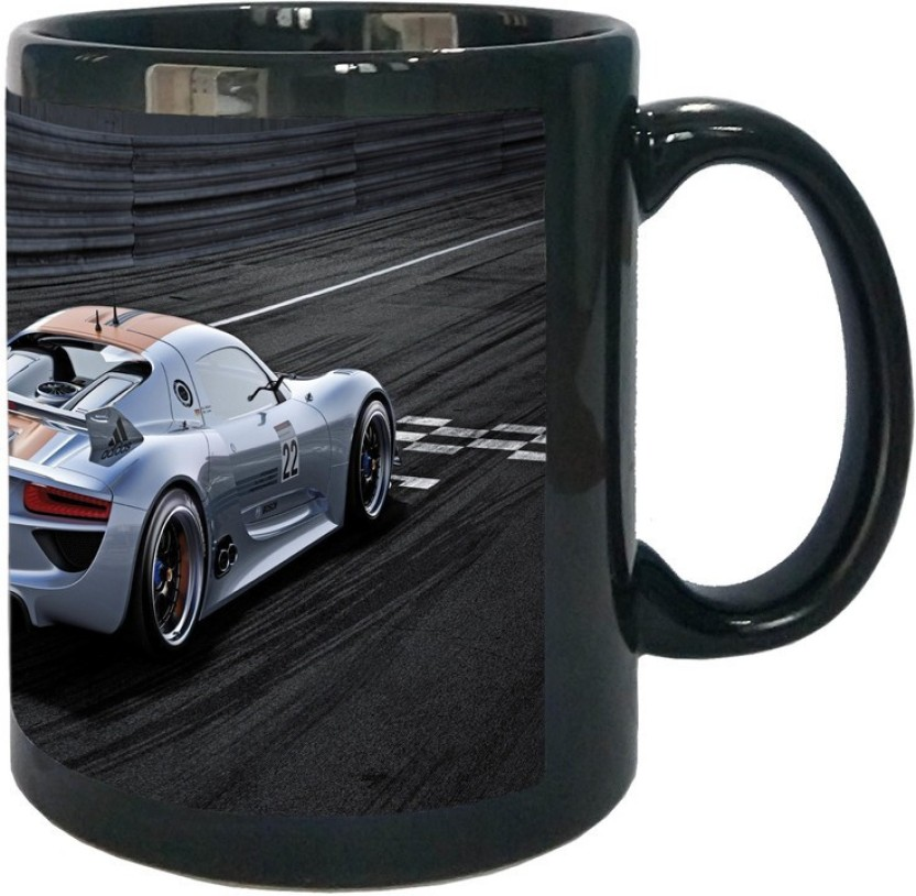 Arkist porsche 918 rsr wallpaper Black Ceramic Mug Price in