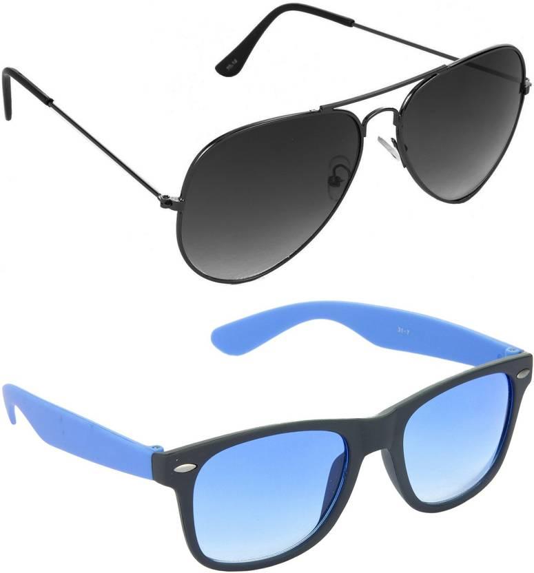 63c7548329fc Buy Hrinkar Aviator Sunglasses Grey