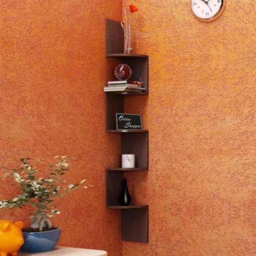 best service e2bd4 c89d8 Onlineshoppee ZigZag MDF Wall Shelf