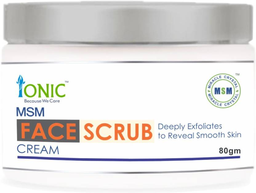 Ionic MSM Face Scrub for Absolute Skin Whitening & Oil