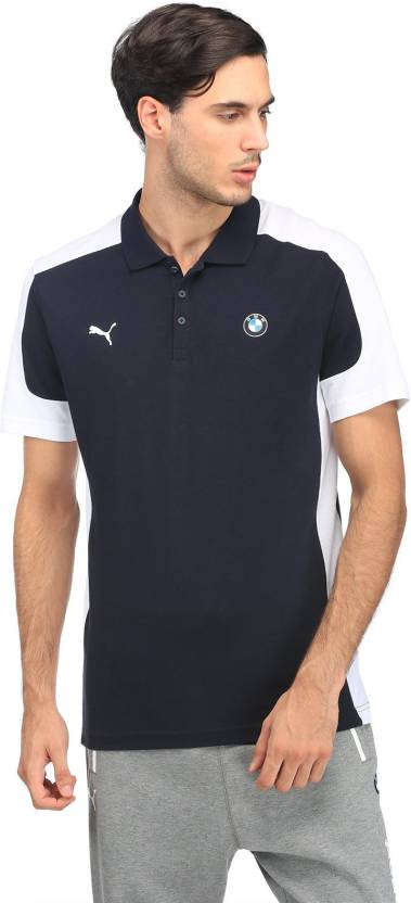 4e1e4b2b91e Puma Color block Men Polo Neck Blue, White T-Shirt - Buy Puma Color block  Men Polo Neck Blue, White T-Shirt Online at Best Prices in India |  Flipkart.com