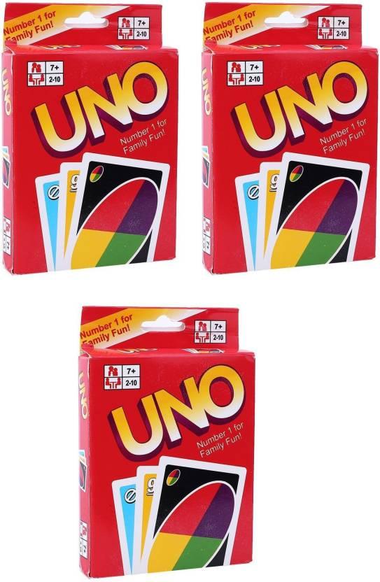 Memore Uno Game Card (Pack of 3)