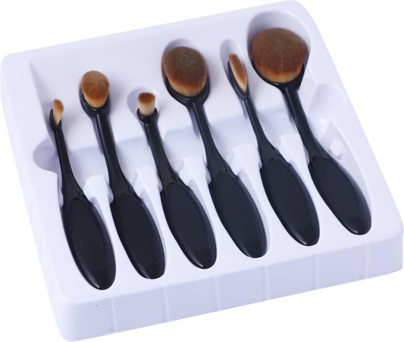 125685ad3c5c AARIP Set of 6 Oval Makeup Brushes Set
