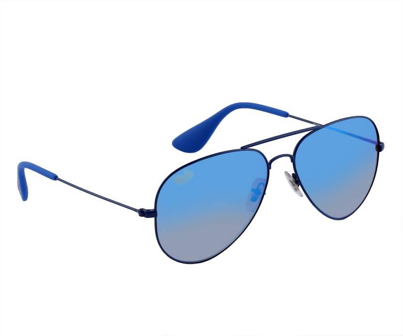 ffa512bc22 Buy Ray-Ban Aviator Sunglasses Blue For Men   Women Online   Best ...