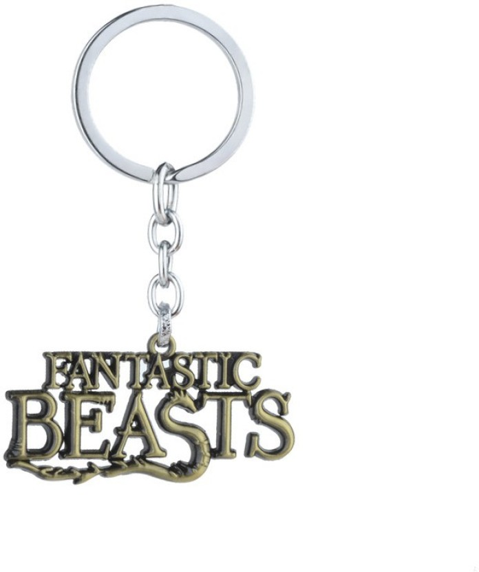 Fantastic Beasts and Where to Find Muggle Worthy Silver Keyring Keychain gift \