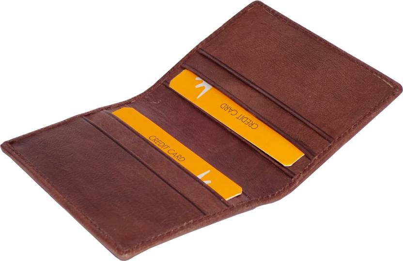 sports shoes 1c7d4 c6820 WALLETO High Quality Genuine Leather Visiting Card, ATM Card, ID Proof,  Business Card, Credit Card Holder Cum Money Wallet 6 Card Holder