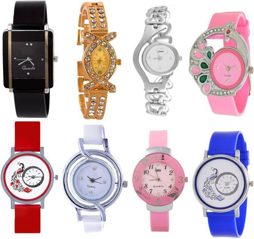 1b91b7a4f keepkart Glory Golden, White, Black, Blue, Pink, Red, Silver Multicolor  Jewellery Bracelet Analog Watches for girls Watch - For Women - Buy  keepkart Glory ...