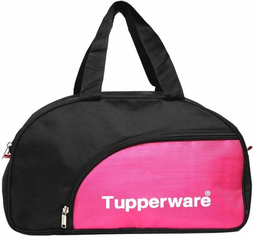 Tupperware Black And Pink Carry Bag Waterproof Multipurpose