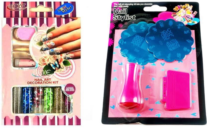 Iris 7 Nail Art Decotation Kit and Stamping Kit (2 image Plate ...