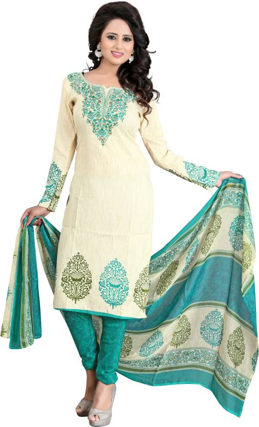 Fashion On Sky Synthetic Printed Salwar Suit Dupatta Material  (Un-stitched)