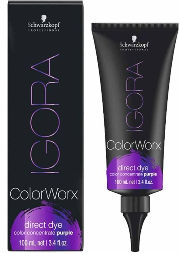 Schwarzkopf Igora Colorworx Direct Dye Purple Hair Color Price In