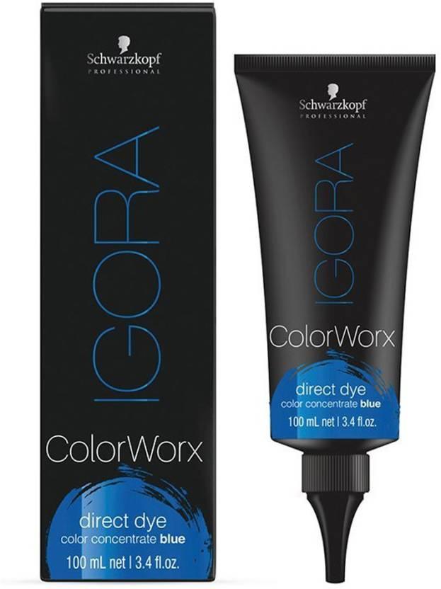 Schwarzkopf Igora Colorworx Direct Dye Blue Hair Color Price In