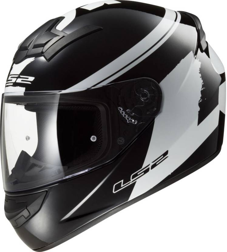 d2a92677 LS2 FF352-XL Bulky Matt Black and White Motorbike Helmet (Matt Black, White)