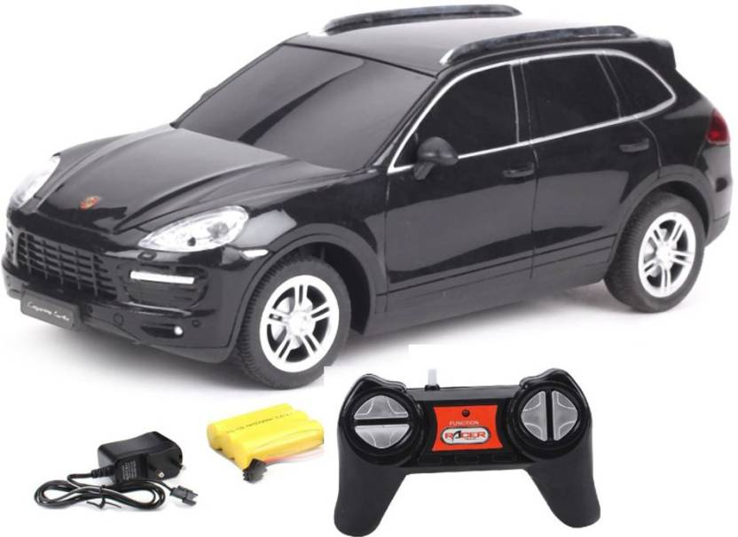 Tabby Toys Rc Porsche Cayenne Turbo 1 24 Rechargeable Toy Car Black