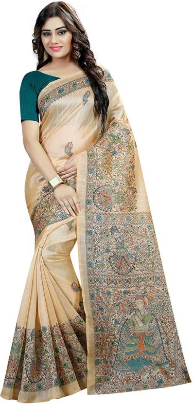 Villagius Printed Banarasi Handloom Silk Saree