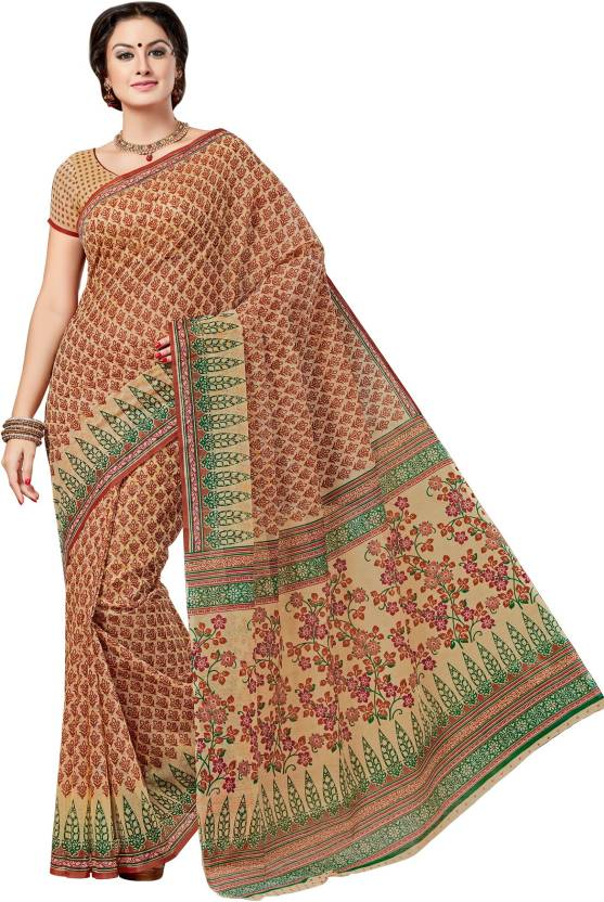 b8c304661b Buy Taanshi Printed Daily Wear Cotton Multicolor Sarees Online ...