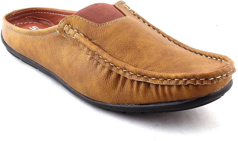 c0a1acf7abc0 Scarpia Open Back Loafers For Men - Buy Beige Color Scarpia Open ...