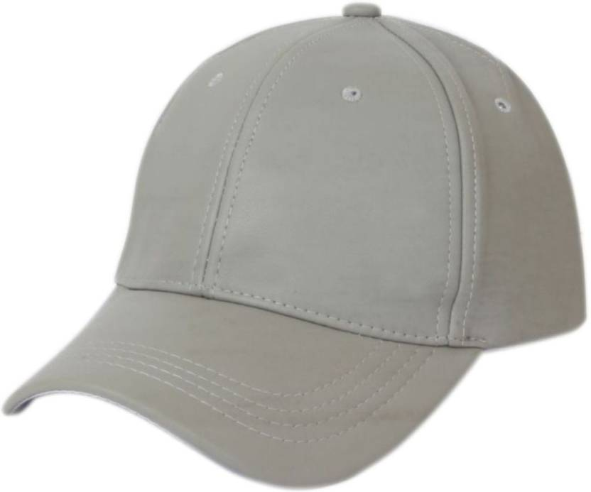 ed310b6cef7 ALAMOS Solid Plain Leather White Baseball Cap - Buy White ALAMOS Solid Plain  Leather White Baseball Cap Online at Best Prices in India
