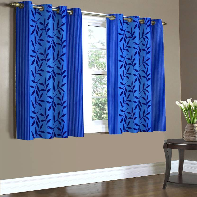 Home Candy 152 Cm 5 Ft Polyester Window Curtain Pack Of 2