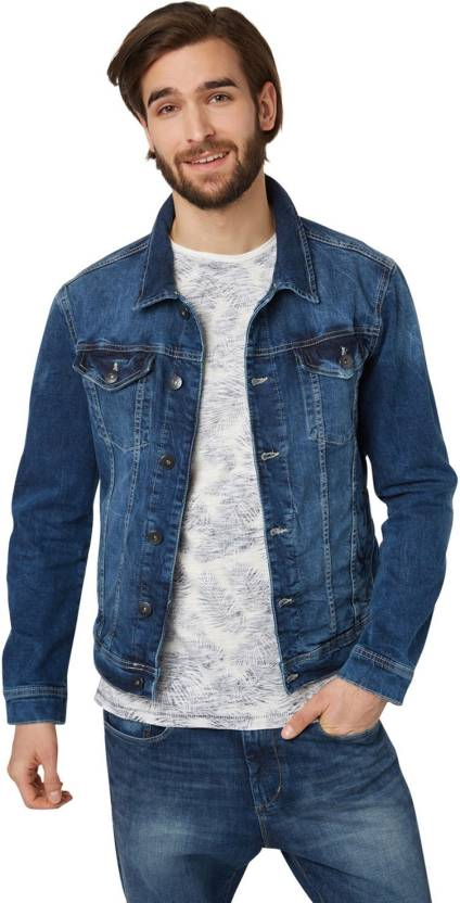 Tom Tailor Full Sleeve Solid Men s Casual Denim Jacket - Buy Tom ... 6d4e460961